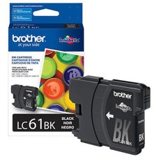 BROTHER - Cartucho de Tinta, Brother, LC61BK, Negro, 450 Páginas