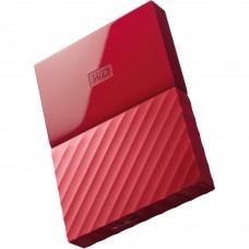 Disco Duro Externo, WD, WDBYNN0010BRD-WESN, USB 3.0, 2.5 pulgadas, Rojo