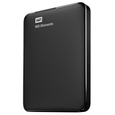 Disco duro externo, WD, WDBUZG0010BBK-WESN, 1 TB, USB 3.0, Negro, Elements