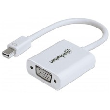 MANHATTAN - Cable de Video, Manhattan, 151382, Mini DisplayPort Macho a VGA Hembra, Blanco