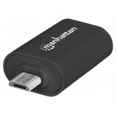 Adaptador USB, Manhattan, 406192, OTG, Micro USB 2.0 a USB 2.0, Smarthpone, Tablets