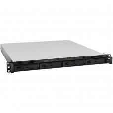 NAS, Synology, RS818+, 4 Bahías para Discos de 2.5 Pulgadas / 3.5 Pulgadas, 4 puertos Gigabit, 2GB DDR3, hasta 48TB (No incluye disco duro), Negro