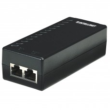 Inyector de Corriente, Intellinet, 524179, PoE, 100 Mbps, 15.4 W, RJ45, Negro