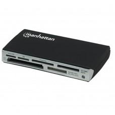 MANHATTAN - LECTOR DE MEMORIAS MANHATTAN 60 EN 1, USB 2.0 NEGRO