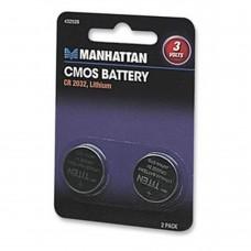 Batería de Litio, Manhattan, 432528, CMOS, CR2032, 3V, 2 Piezas