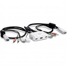 KVM SWITCH TRENDNET TK-215I USB/HDMI DE 2 PUERTOS (INCLUYE CABLES FIJOS)