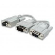 Cable de Video, Manhattan, 328302, Divisor, 1 VGA a 2 VGA