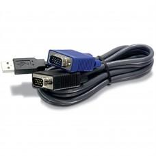Cable Convertidor, Trendnet, TK-CU06, KVM, USB - VGA/ KVM, 1.8 metros