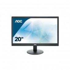 Monitor LED, AOC, E2070SWN, 19.5 pulgadas, VGA, Negro