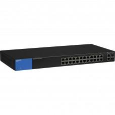 Switch administrable, Linksys, LGS326, 24 puertos 10/100/1000 Mbps, 4 puertos SFP, Capa 2
