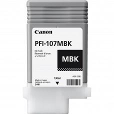 Tanque de Tinta Canon, 6704B001AA, PFI-107MBK, Negro Matte, 130ml