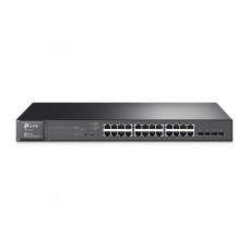 TP LINK - Switch Administrable, TP-Link, T1600G-28PS, 24 puertos, Gigabit, PoE+, 4 SFP, Jetstream