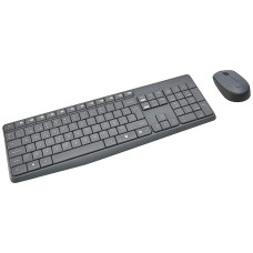 Teclado y Mouse, Logitech, 920-007901, MK235, Inalámbricos, USB, Negro