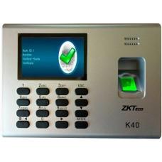 ZK TECO - Control de Acceso, ZK Tecko, ZK K40, 1000 Huellas, Puerto de Red, USB, Batería Incluida