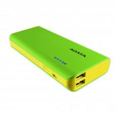 Batería Portatil, Adata, APT100-10000M-5V-CGRYL, Verde, Power Bank, 10000 mAh, 2 Puertos USB, 1 A, 2 A, Linterna