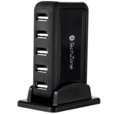Concentrador USB, TechZone, 7501950051829, Cargador, 7 Puertos USB