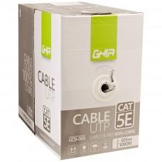 GHIA - Bobina de Cable, Ghia, GCB-003, Cat5e, UTP, Cobre, Gris, 24 AWG, 305 m