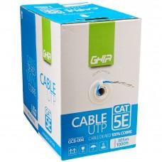 GHIA - Bobina de Cable, Ghia, GCB-004, Cat5e, UTP, Cobre, Azul, 24 AWG, 305 m