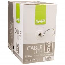 Bobina de Cable, Ghia, GCB-007, Cat6, UTP, Cobre, Gris, 23 AWG, 305 m
