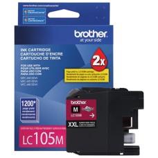BROTHER - Cartucho de Tinta, Brother, LC105M, Magenta, 1,200 paginas