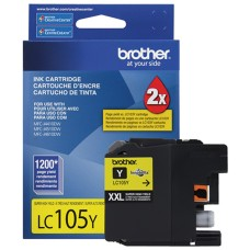 BROTHER - Cartucho de Tinta, Brother, LC105Y, Amarillo, 1200 páginas