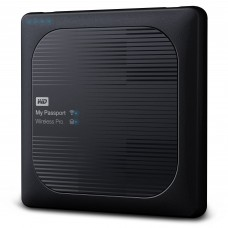 Disco Duro Externo, Western Digital, WDBSMT0040BBK-NESN, My Passport Wireless, 4TB, USB 3.0, 3.5 Pulgadas, Wi-Fi, Negro