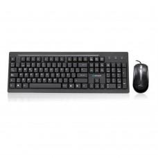 Teclado y Mouse, Acteck, AK2-2700, WKTE-005, USB, Negro
