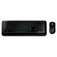 MICROSOFT - Teclado y Mouse, Microsoft, PN9-00004, Inalámbricos, USB, Negro