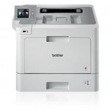 Impresora láser a color, Brother, HL-L9310CDW, Hasta 33ppm, 2400 x 600 ppp, Wi-Fi, Ethernet, USB, Blanco