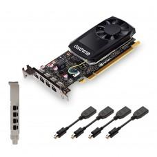 Tarjeta de Video, PNY, VCQP1000-ESPPB, NVIDIA, 4 GB GDDR5, PCI Express x16 3.0