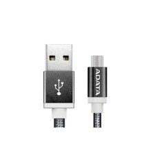 Cable USB 2.0, Adata, AMUCAL-100CMK-CBK, Micro USB, USB, 1 m, 2.4 A, Negro, Puerto Reversible