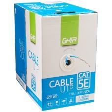GHIA - Bobina de Cable, Ghia, GCB-002, Cat5e, UTP, CCA, Azul, 24 AWG, 305 m
