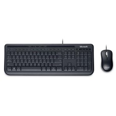 MICROSOFT - Teclado y Mouse, Microsoft, 3J2-00008, Alambrico, USB, Negro