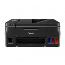 Multifuncional, Canon, PIXMA G4100, 1515C004AA, Inyección de tinta a color, Impresora, Copiadora, Escáner y Fax, Sistema de tanque de tinta, Wi-Fi, Negro