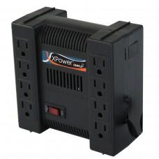 Regulador de Voltaje, Complet, ERV-9-001, 1300 VA, 650 W, 8 Contactos