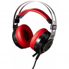 KMEX - Audífonos con Micrófono, Eagle Warrior, ACFHS88RAVENEGW, Sonido 7.1, USB, Rojo