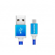 Cable USB 2.0, Adata, AMUCAL-100CMK-CB, Micro USB, USB, 1 m, 2.4 A, Azul, Puerto Reversible