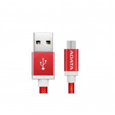 Cable USB 2.0, Adata, AMUCAL-100CMK-CRD, Micro USB, USB, 1 m, 2.4 A, Rojo, Puerto Reversible