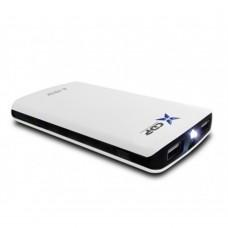 Bateria Portatil, CPD, R-PB10K, 10000mAh, Linterna LED, USB, Blanco/Negro