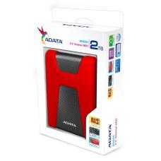 Disco Duro Externo, Adata, AHD650-2TU31-CRD, 2TB, USB 3.0, 2.5 Pulgadas, Rojo - Negro