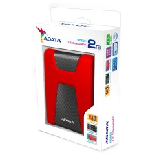 ADATA - Disco Duro Externo, Adata, AHD650-2TU31-CRD, HD650, 2 TB, USB 3.0, 2.5 Pulgadas, Rojo - Negro