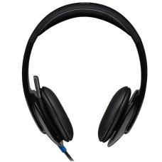 LOGITECH - Audífonos con micrófono, Logitech, 981-000510, H540, Alambrico, USB, Negro