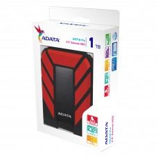 ADATA - Disco Duro Externo, Adata, AHD710P-1TU31-CRD, 1TB, USB 3.0, 2.5pulgadas, Negro-Rojo
