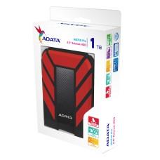 Disco Duro Externo, Adata, AHD710P-1TU31-CRD, 1TB, USB 3.0, 2.5pulgadas, Negro-Rojo