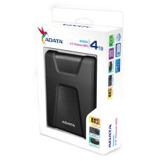 Disco Duro Externo, Adata, AHD650-4TU31-CBK, HD650, 4 TB, USB 3.0, 2.5 Pulgadas, Negro