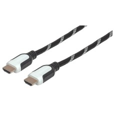 Cable de Video, Manhattan, 354783, HDMI, HDMI, 3 m, Negro, Blanco