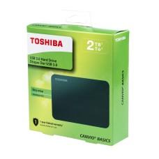 Disco Duro Externo, Toshiba, HDTB420XK3AA, 2TB, USB 3.0, 2.5 pulgadas, Negro