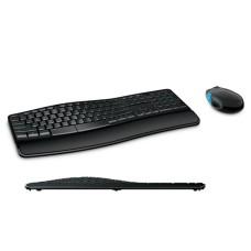 MICROSOFT - Teclado y Mouse, Microsoft, L3V-00004, Inalámbrico, Sculpt Comfort Desktop, L3V-00004, USB, Negro