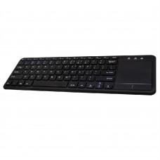 TechZone - Teclado, TechZone, TZ18TEC01BT, Inalámbrico, Touchpad, Bluetooth, Negro
