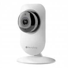 Cámara inteligente, TechZone, TZIPC01SH, 1080, Visión nocturna, Wi-Fi, Blanco